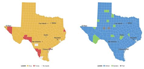 texas voting map texas primary election results 2016 the new york times
