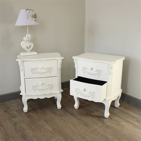 antique table ls white french style bedside table group shot white french