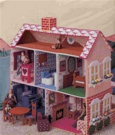 plastic canvas doll house stunning pink doll house plastic canvas pdf pattern
