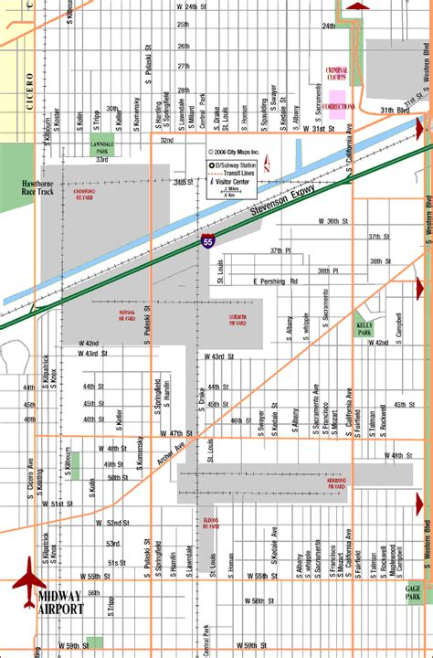 chicago midway map highway map of mdw chicago midway airport aaccessmaps