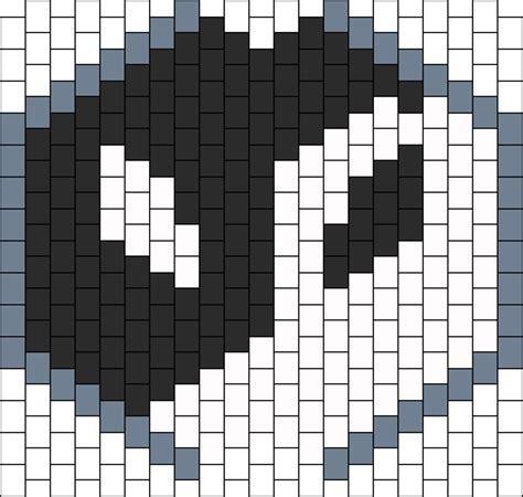 black and white kandi mask pattern yin and yang twonk mask bead pattern peyote bead