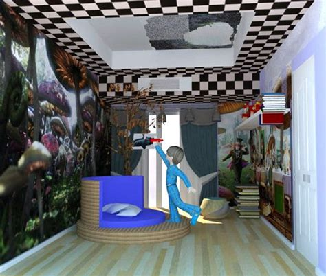 alice in wonderland themed bedroom alice in wonderland bedroom on behance