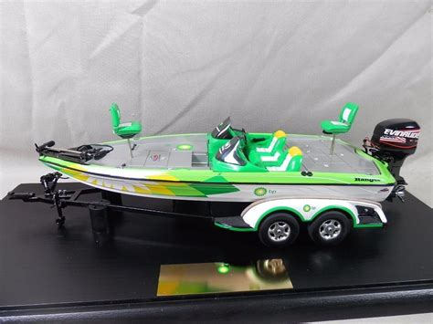 weighing boat and trailer diecast bp ranger bass boat 1 24 scale display case boat