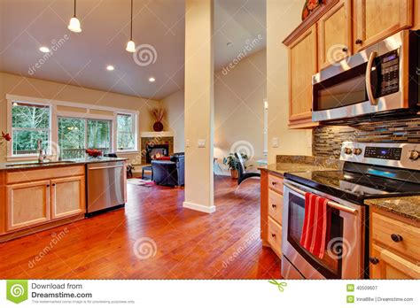 floor plans with interior photos house interior open floor plan kitchen area stock photo