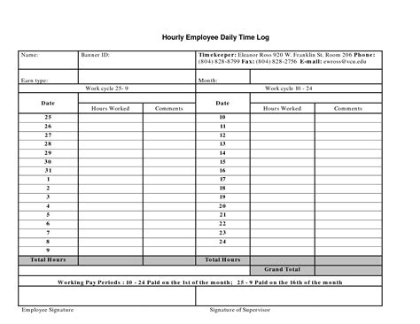 employee log template daily log sheet for employees