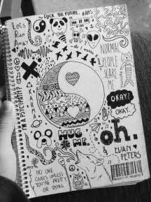 doodle to draw in class grunge via journaling follow me