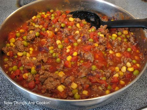 green bean casserole with hamburger meat