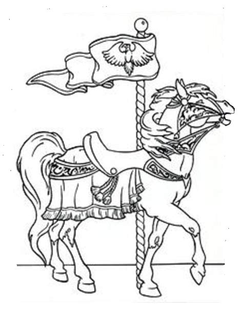 merry go round horses coloring pages coloring pages