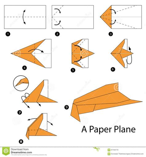 Steps To A Paper Airplane - origami origami planes royalty free cliparts vectors and