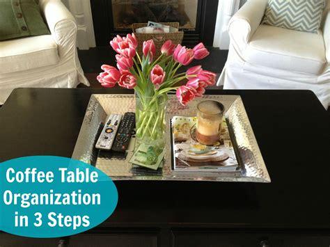 coffee table decor organization live nest