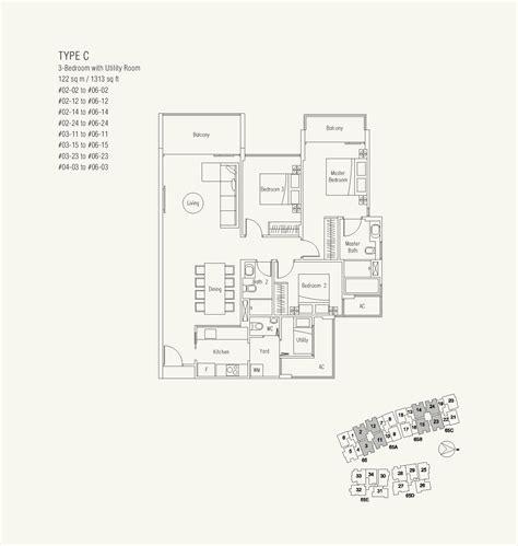 waterscape floor plan 3 bedroom u waterscape at cavenagh