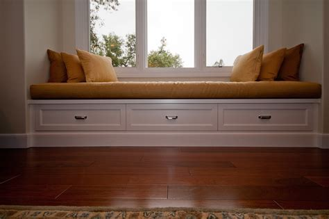 built in bench under window under window storage bench treenovation