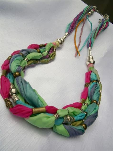 material for jewelry best 25 fabric necklace ideas on diy nursing