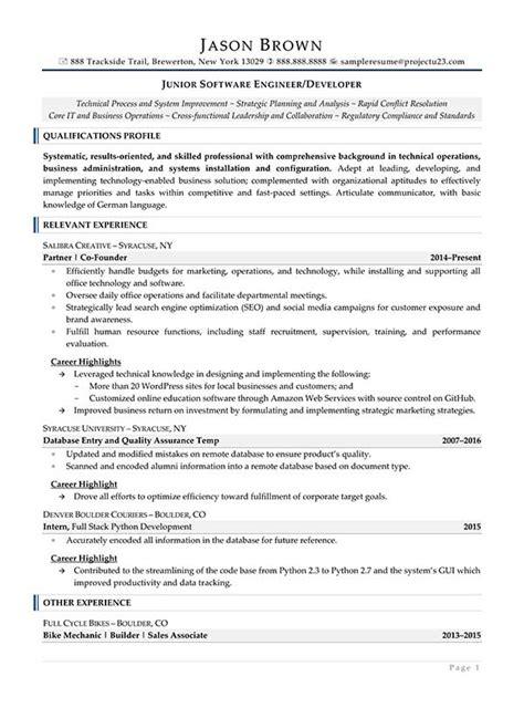 senior software engineer resume samples oyle kalakaari co