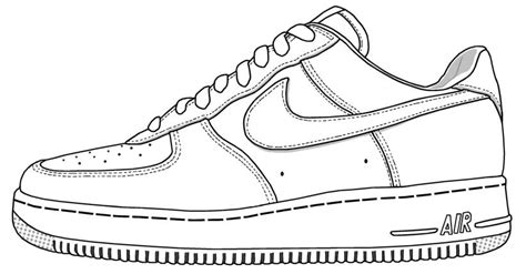 shoe drawing template nike shoe coloring page ace images trainers