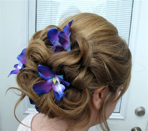wedding hair accessories blue wedding hair accessories blue purple dendrobium orchid