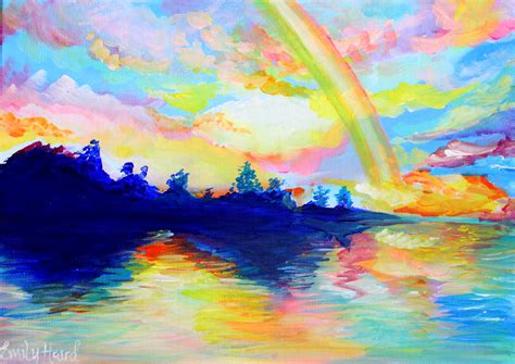 painting rainbow dreaming emily louise heard