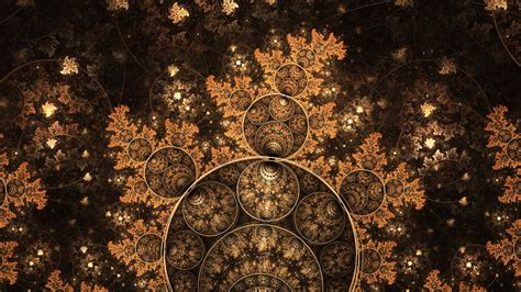 fractal circles hd desktop wallpaper widescreen high