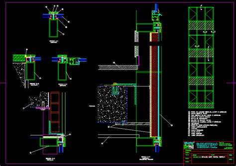 curtain wall detail  autocad cad   kb