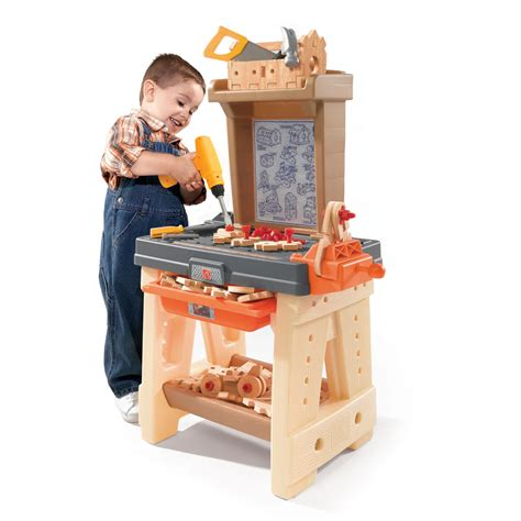 boys wooden tool bench real projects workshop role play toys step2