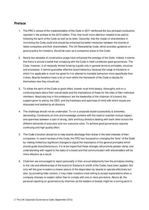 Corporate Governance Uk Essay by Uk Corporate Governance Code Audit Committee Report Mfawriting760 Web Fc2