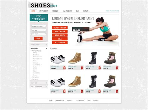 template store free shopping cart website template store