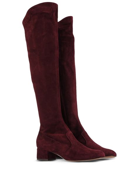maroon boots l autre chose the knee boots in purple maroon lyst