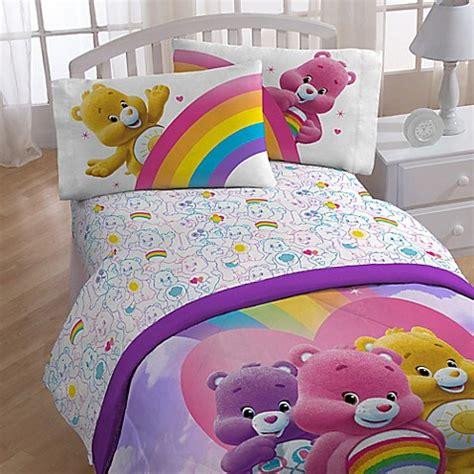 care bear bedding toddler bedding sets gt care bears full sheet set from buy buy baby
