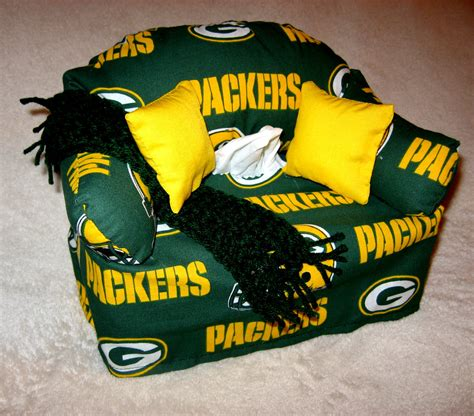 green bay packers couch green bay packers sofa tissue box cover with afghan by