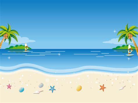 wallpaper cartoon beach vector scenery vector tropical beach 1600x1200 no 18