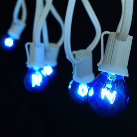 25 commercial blue globe light strand