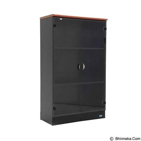 Lemari Kaca Satu Pintu jual uno lemari arsip medium pintu kaca 3 ruang ust 2564