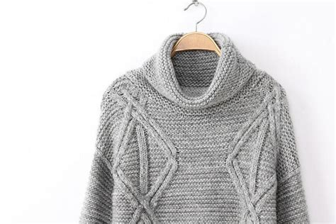 grey jumper patterned sleeves grey high neck long sleeve diamond patterned sweater