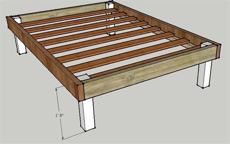 platform bed building  queen bed frame