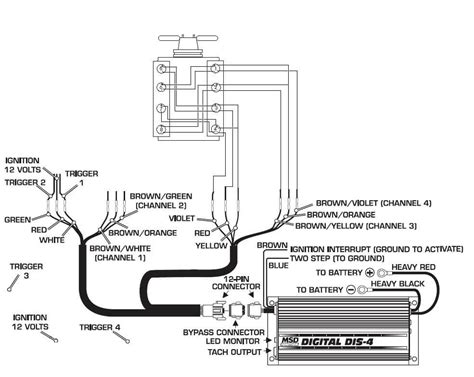 atomic efi msd ignition systems wiring diagrams
