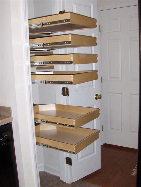 Sliding Shelves Pantry by Slide Out Shelving For Pantry Design Ideas Kitchen