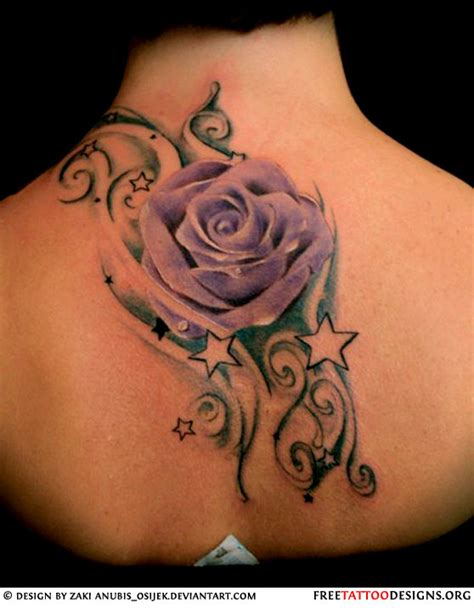 rose on back tattoo 50 tattoos meaning