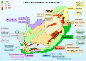 grade 5 physical features of south africa map studychamp