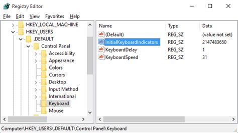 keyboard layout windows 7 logon screen enable num lock on the windows 10 lock screen