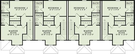 multi family house floor plans 4 unit multi family home plan 60559nd 2nd floor master