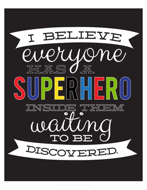 Printable Superhero Quotes | today i will be my own superhero free printables
