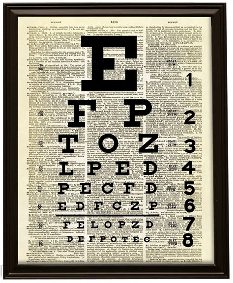 Snellen Chart Black Printing snellen eye chart dictionary print no 300 183 altered