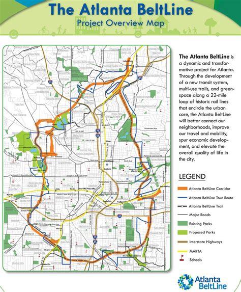 atlanta beltline map atlanta beltline maplets