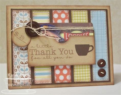 Handmade Thank You Gifts - this handmade thank you card puts the gift card right on
