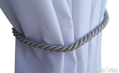 curtain cord large silver window treatment curtain drape 36 quot long rope