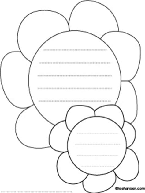 flower writing template flowers shape paper with lines for writing