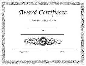 Free Printable Blank Award Certificate Templates by Printable Award Certificate Templates Sleprintable