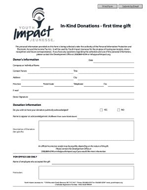 Electronic Donation Receipt Template by Donation Receipt Template Forms Fillable Printable