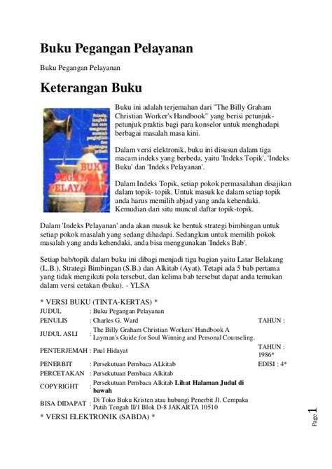 Buku Legenda 4 In 1 buku pegangan pelayanan billy graham