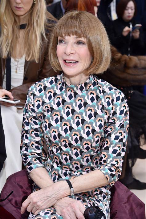 anna wintour   chloe front row paris fashion week womenswear fallwinter